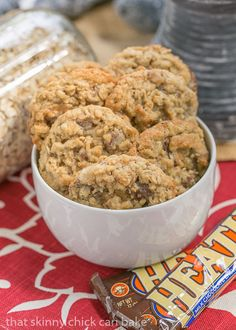 Chewy Oatmeal Toffee Cookies with a coconut bonus! #SundaySupper