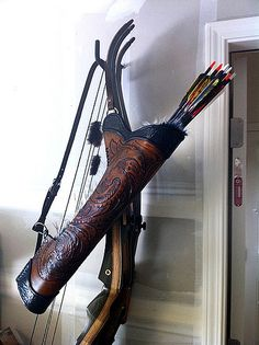 New Guy's Stuff - Page 2 - Archery Quivers and Bow Cases Archery Quiver, Archery Bows, Archery Hunting, Bow Quiver, Deer Hunting, Crossbow Arrows, Crossbow Hunting, Costume Sports, Leather Quiver