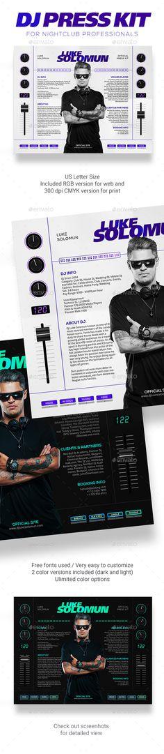 MaDJestik - DJ Press Kit / DJ Resume / DJ Rider PSD Template - #Resumes #Stationery