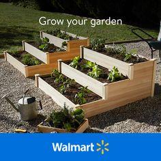 Garden Yard Ideas, Backyard Patio Designs, Diy Garden Projects, Backyard Landscaping, Building A Raised Garden, Raised Garden Beds, Raised Beds, Vegetable Garden Design, Growing Vegetables