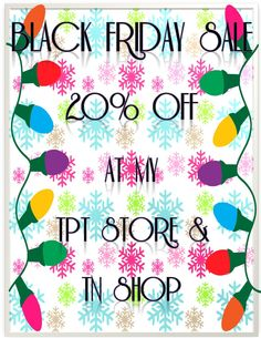 Black Friday Sale! from Tales of a First Grade Teacher
