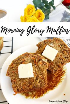 These Morning Glory Muffins are a real treat to wake up to in the morning. Loaded with carrots, apple, walnuts and pumpkin seeds, these muffins make a healthy and nutritious breakfast any day of the week! Nutritious Breakfast, Healthy Muffins, Morning Glory Muffins, Pumpkin Seed Butter, Honey And Cinnamon, Muffin Recipes, Baking Soda, Brunch, Tasty