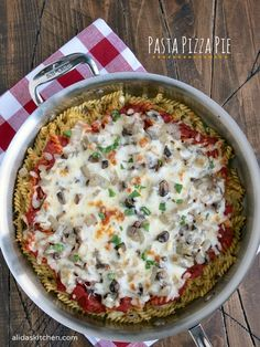 Pasta Pizza Pie | al