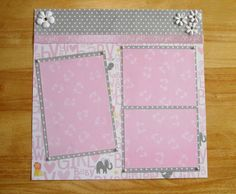 Baby Girl Premade Scrapbook Page 12 x 12 One by AngelBDesigns4You