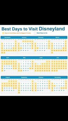 Best days to go to Disney