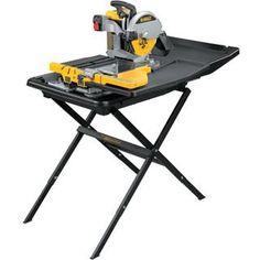 70 best dewalt power tools images on pinterest dewalt d24000 sliding table wet tile saw 250mm greentooth Gallery
