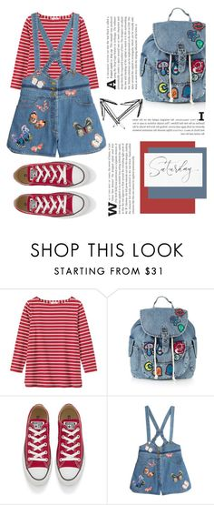 """""""""""It's no use to go back to yesterday because I was a different person then"""" - (P.L Travers, Mary Poppins)"""" by punkrockmeansfreedom ❤ liked on Polyvore featuring Toast, Topshop, Converse and Valentino"""