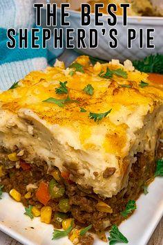 Best Shepherds Pie Recipe, Easy Shepherds Pie, Shepards Pie With Beef, Shepards Pie Recipes, Beef Casserole Recipes, Meat Recipes, Cooking Recipes, Apple Recipes, Salad Recipes