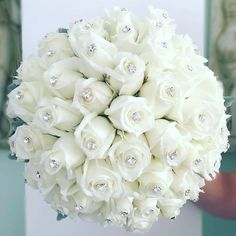 Ideas Bridal Bouquet White Bling For 2019 Bling Bouquet, Flower Girl Bouquet, Wedding Brooch Bouquets, Bride Bouquets, Boquet, Bridesmaid Bouquets, Bling Wedding, Wedding Flowers, Dream Wedding