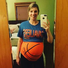 Go Cavs!  Basketball Maternity Shirt by Baby Belly Laughs on Etsy.  https://www.etsy.com/listing/242534075/basketball-maternity-shirt-funny?ref=listing-shop-header-1