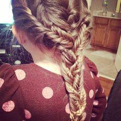 #braid #cute #hairstyles #pretty #fishtail    hey guys! this is just three french fishtail braids that are braided in a regular three strand braid. happy braiding!