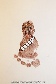 Footprint Inspired by Chewbacca from Star Wars