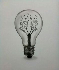 bulb drawing drawings pencil draw realistic easy sketches tattoo animal lamp cool lightbulb dark ink lights lullaby architecture weheartit tattoos
