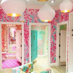 Vintage Shop Interiors •~• Lilly Pulitzer dressing rooms