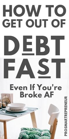 How To Get Out Of Debt Fast (Even if you're dead broke) - Finance tips, saving money, budgeting planner Money Saving Challenge, Saving Money, Saving Tips, Saving Ideas, Debt Free Living, Budget Planer, Get Out Of Debt, In Debt, Savings Plan