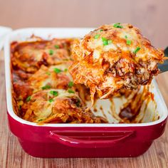 Easy Chicken Enchilada Casserole Recipe on Yummly. @yummly #recipe  and under 600 calories