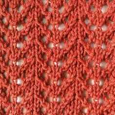 Requiring only simple knitting techniques and done in a 4-row repeat, the Fern Lace stitch is a fast knit and is easy to remember.