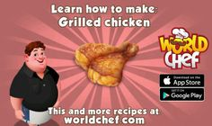 """Just started this new game called """"World Chef"""". So far it is really fun! T Bone Steak, World Chef Game, Haitian Food Recipes, App Store Google Play, Grilled Chicken, Grilling, Cooking, Breakfast, Itunes"""