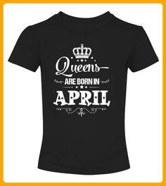 Queens Are Born In April Birthday Shirt - Shirts für freundin mit herz (*Partner-Link)