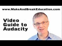 Video Guide to Audacity - Audacity Tutorials to Help You Record, Edit and Much Learning Sites, Learning Tools, Voice Acting, The Voice, Free Mp3 Music Download, Professional Dj, Recorder Music, Music Classroom, Self Publishing