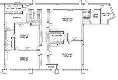 Daycare Facility floorplan | Day Care Floor Plan Designs