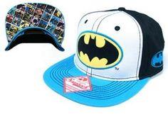 Amazon.com: Batman Tri-color Mens Black Snap Back Hat: Clothing