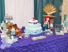 Pretty Little Mermaid birthday party! See more party ideas at CatchMyParty.com!