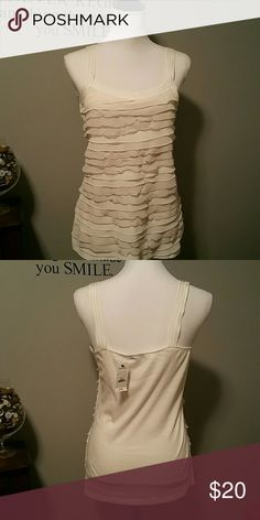 EXPRESS NWT Ivory top Beautiful.  Retail 44.90.  Size Medium. Express Tops Camisoles