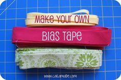 Caila-Made: Tutorial: Make your own Bias Tape