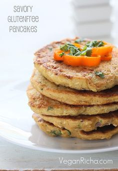 Vegan Chickpea Flour Pancakes/mini Omelettes with Cauliflower and Shiitake mushrooms ignoring the rant these look good.