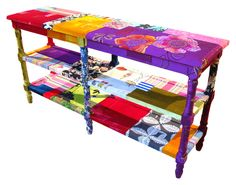 Colorful 70′s style colonial furniture by Squint Limited