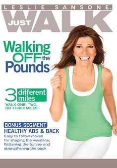Just Walk: Walk Off the Pounds 3 Different Miles Leslie Sansone, 2015 This DVD contains a 3 mile walking workout. Lose 10 Pounds In A Week, Losing 10 Pounds, 5 Pounds, Losing Weight Tips, How To Lose Weight Fast, Leslie Sansone, Ww Online, Walking Exercise, Walking Workouts