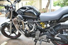 The Yamaha Turbocharged ~ Grease n Gasoline Fz 16, Yamaha Byson, Sea Salt And Pepper, Small Engine, No Carb Diets, Grease, Biker, Motorcycles, Gadgets