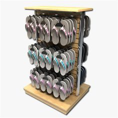 Fashionable Trade Show Wall Mounted Shoe Display Stands - Boutique Store Fixtures Manufacuring, Retail Shop Fitting Display Furniture Supply Shoe Store Design, Clothing Store Design, Retail Store Design, Retail Shop, Gift Shop Displays, Shop Display Stands, Boutique Decor, Boutique Stores, Shoe Display