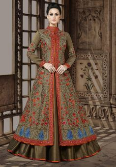 Looking to Buy Lehenga Online: Buy Indian lehenga choli online for brides at best price from Andaaz Fashion. Choose from a wide range of latest lehenga choli designs. Indian Gowns, Indian Wear, Indian Outfits, Lehenga Style, Silk Lehenga, Saree, Lehenga Choli Online, Lehenga Collection, Designer Anarkali