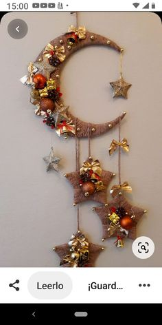 Decor Crafts, Holiday Crafts, Diy Crafts, Moon Crafts, Tree Crafts, Holiday Decor, Home Decor, Ramadan Decorations, Christmas Decorations