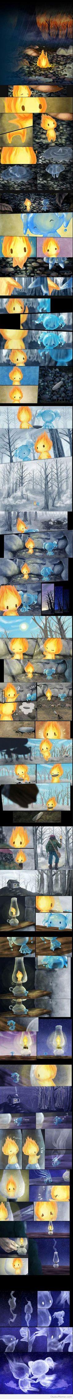 historia corta de fuego y lluvia