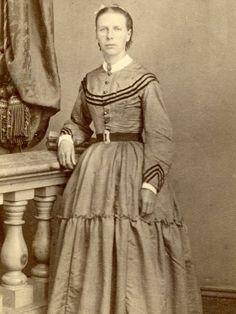 Civil War CDV Young Lady by Reed Co of Sacramento California | eBay