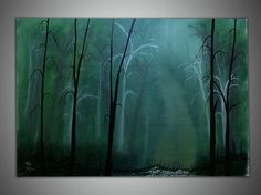 foggy forest, misty painting, misty landscape, misty forest, enchanted forest, forest landscape, forest canvas, magic forest, home decor art
