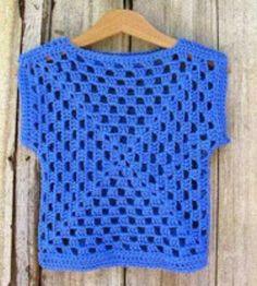 Pardon my Chaos: Granny Square Débardeurs Au Crochet, Mode Crochet, Crochet Girls, Crochet Woman, Crochet Chart, Crochet Granny, Easy Crochet, Crochet Baby, Crochet Jacket
