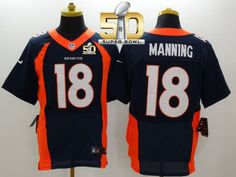 a3c976394 Nike Broncos Peyton Manning Navy Blue Alternate Super Bowl 50 Men s Stitched  NFL New Elite Jersey
