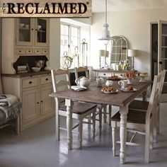 The Carisbrooke Extending Dining Room Table – Reclaimed Wood