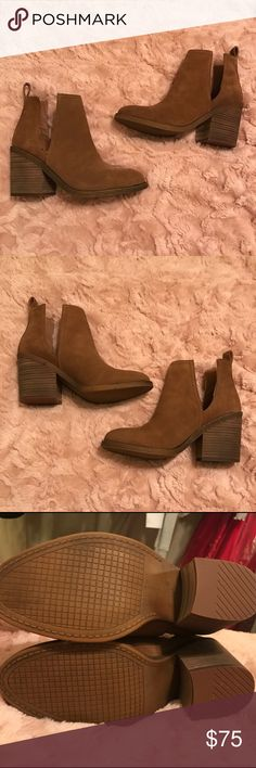 BRAND NEW Steve Madden Sharini Booties Heel booties from Steve Madden these are BRAND NEW, with box. 8.5 but fits like a 8 (im normally a 8) Steve Madden Shoes Ankle Boots & Booties