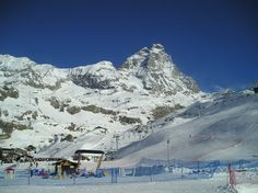 View of the Matterhorn, in Cervinia, Italy