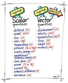 scalar & vector quantities