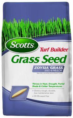 Scotts Turf Builder Grass Seed - Zoysia Grass Seed and Mulch, 5-Pound
