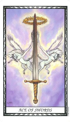 Ace of Swords--Unicorn Tarot