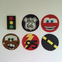 12 Cars Cupcake Toppers-Fondant by bakerslovebakery on Etsy