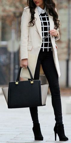 The Best Professional Work Outfit Ideas - Work Outfits Women Winter Boots Outfits, Winter Outfits For Work, Fall Outfits, Winter Office Outfit, White Outfits, Winter Work Clothes, Black Clothes, Formal Winter Outfits, Clothes Lines