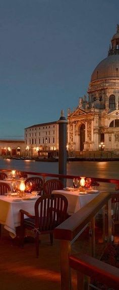 Dining Out in Venice Italy at Night
